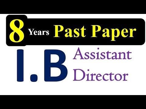 Assistant Director IB Past Papers 2019 || IB Jobs 2019