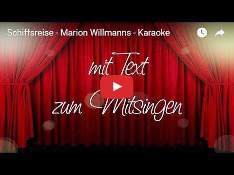 Schiffsreise - Marion Willmanns - Schlager mit Text