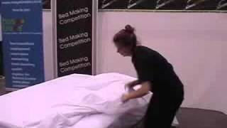 Katrina Gordon Tradeshow (queenstown 2008) - Bed Making Competition