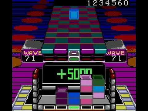 Klax (Game Gear) – Gameplay with warps
