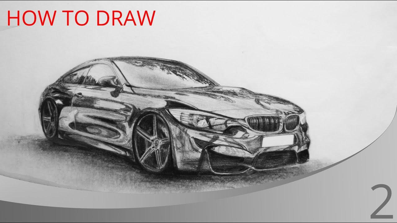 How To Draw A Car Bmw M4