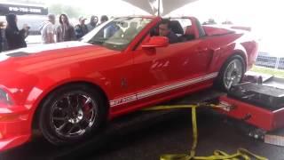 Mustang Shelby GT500 уничтожил тестовый стенд