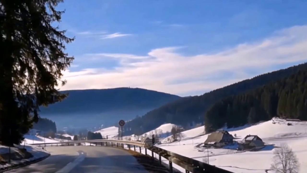 Autofahrt Sonne Schnee im Hochschwarzwald Weihnachten 2017 - YouTube