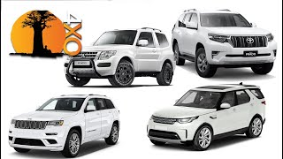 GRAND CHEROKEE, DISCOVERY, PAJERO, PRADO. The best 4x4 off-road SUVs