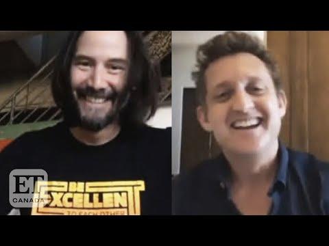 'Bill & Ted' Stars Keanu Reeves, Alex Winter Reunite For San Dimas High School Graduation