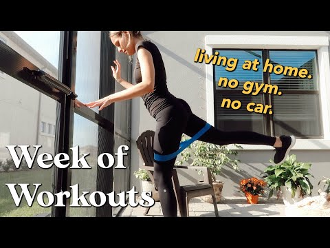FULL Week of Workouts | at home ONLY (no gym or car) // VLOG