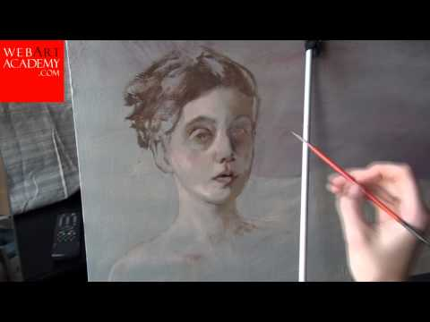 How to paint a Portrait | oil painting study of a girl | Painting lesson