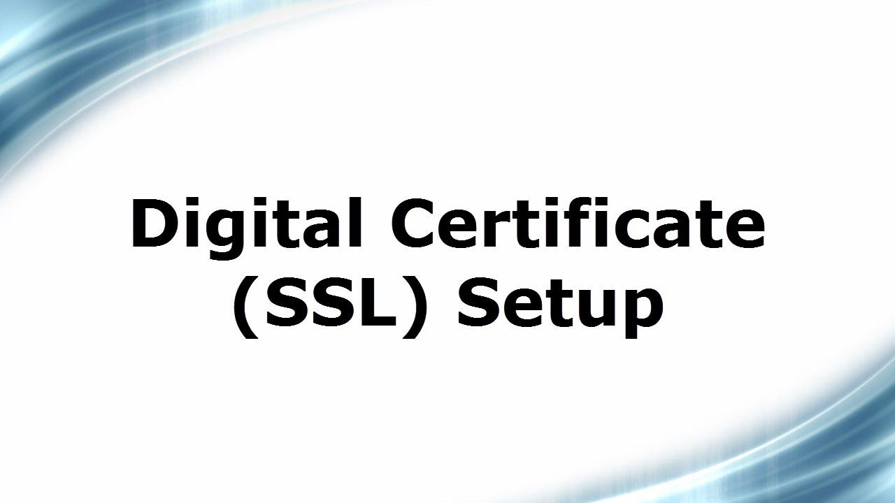 Digital Certificate Setup On Linux Server Youtube