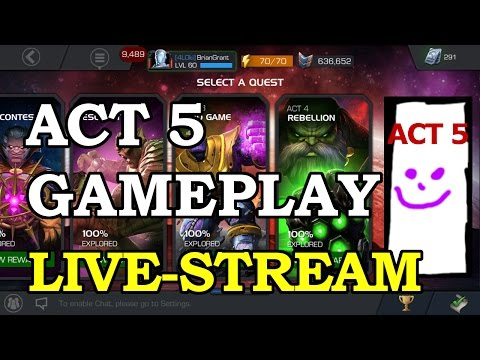 Act 5 Playthrough | Marvel Contest of Champions Live Stream