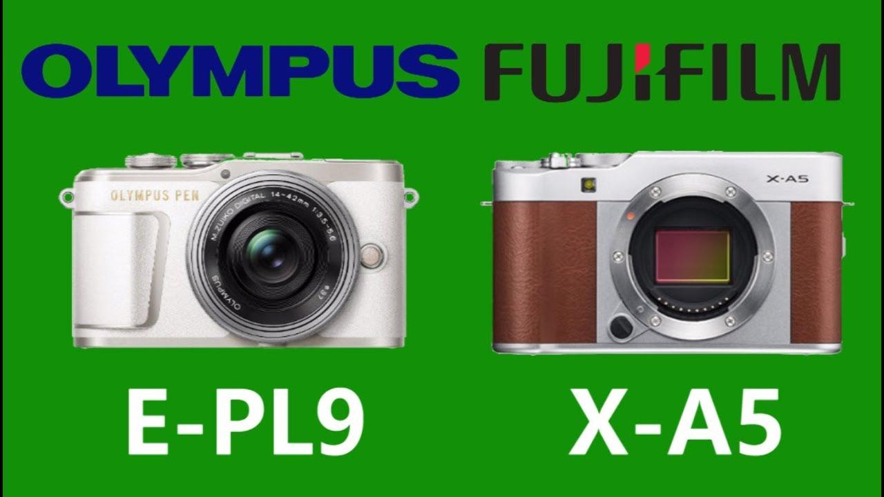 OLYMPUS PEN E-PL9 vs FUJIFILM X-A5