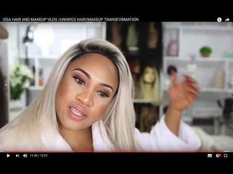 ISSA HAIR AND MAKEUP VLOG /UNIWIGS HAIR/MAKEUP TRANSFORMATION