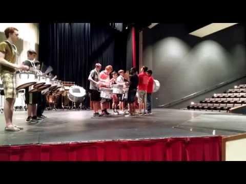 """-= Palatine High School Drumline Performing """" HEAVY METAL """" =-"""