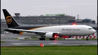 UPS Boeing 767F Powerful Take Off at Dublin Airport