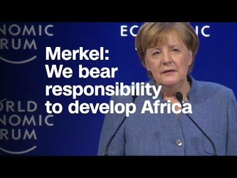 Merkel: We bear responsibility to develop Africa