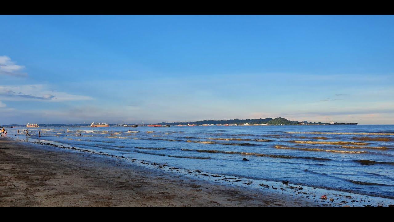 Aira main ke Pantai Amal Penajam Paser Utara - YouTube