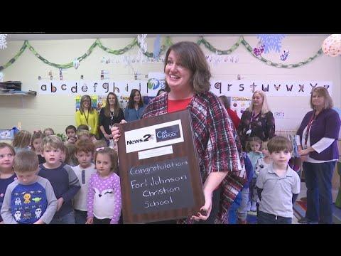 Fort Johnson Christian School receives the News 2 Cool School award