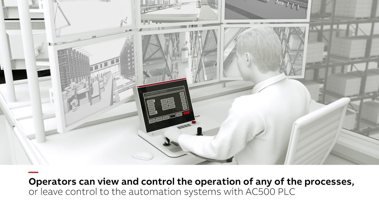 ABB - Distribution center using AC500 with new communication module and new  safety CPUs