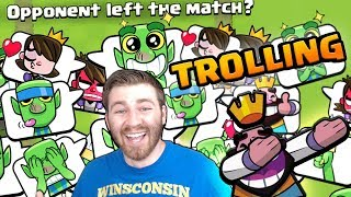 TROLLING PLAYERS WITH NEW EMOTES! | Clash Royale | CAN WE GET SOMEONE TO RAGE?!