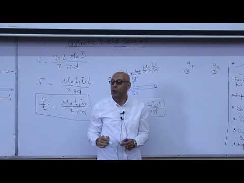 Lecture 11 Part 1 - Sources of Magnetic Field ( Force between two currents )