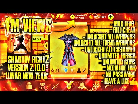 shadow fight 2 hack unlimited money and gems - Shadow Fight 2 Mod Apk V2.10.0/ Unlocked Everything/ Max Level/ For 2k Subscribers/Mediafire