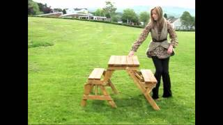 Wood Picnic Bench And Table * 2 In 1 *