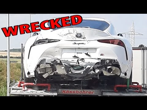 What caused this 2020 Toyota Supra wreckage ?