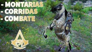 MONTARIAS, CORRIDAS, COMBATE A CAVALO - Assassins Creed Origins