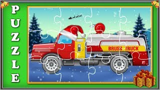 Brush Truck Puzzle video For Kids | Christmas Special Video