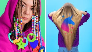 10 Cool Girly and Beauty Hacks / Amazing Hairstyles and Trends