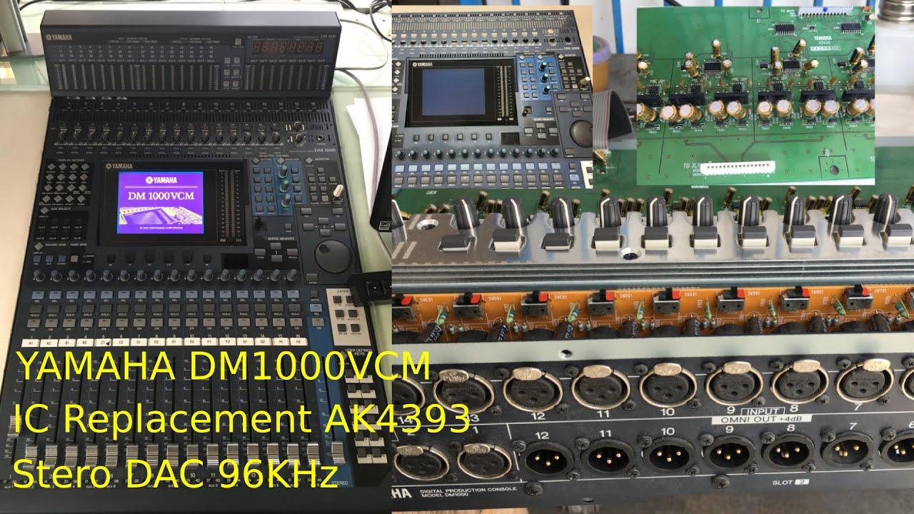 YAMAHA DM1000 VCM IC Replacement AK4393 Stereo DAC