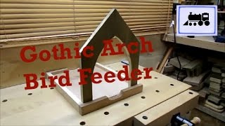In this video I make a bird table with Gothic arches out of scrap wood that is around the workshop.