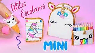 👩🏫🦄 Mini Útiles Escolares De Unicornio Que ¡¡sÍ Funcionan!! Back To School 🦄👨🏫✔