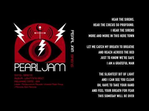 Pearl Jam - Sirens - Lyrics