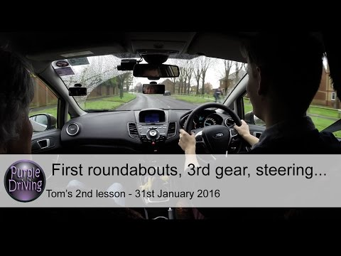 Tom's 2nd driving lesson. 31 January 2016.