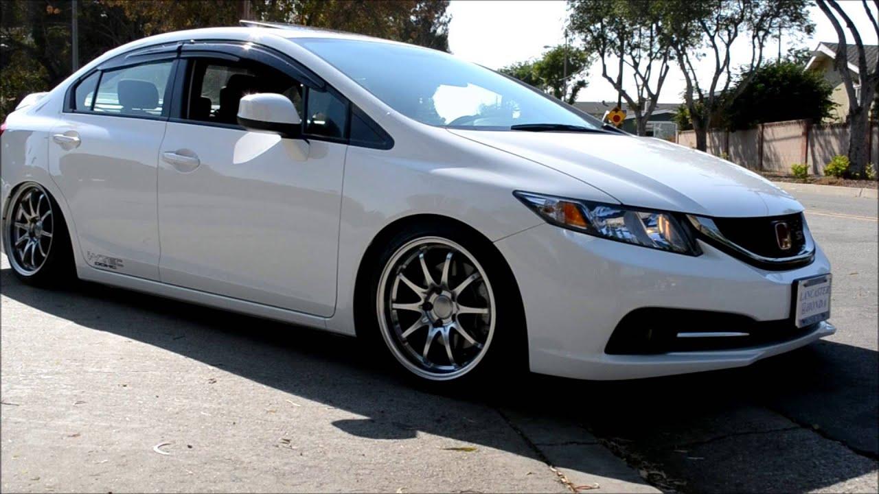 Stanced 2013 Civic Si Sedan Antelopevalleyfwd Youtube