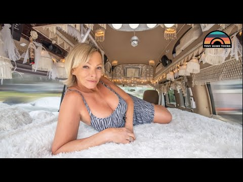 Her Bohemian Camper Van - Tiny House Living At 58 Years Young
