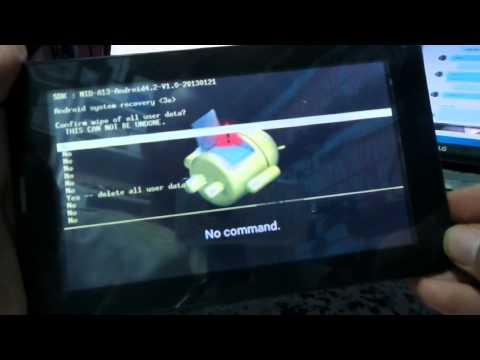 Eurostar ePad Genie ET7183G Y13 Tablet hard reset
