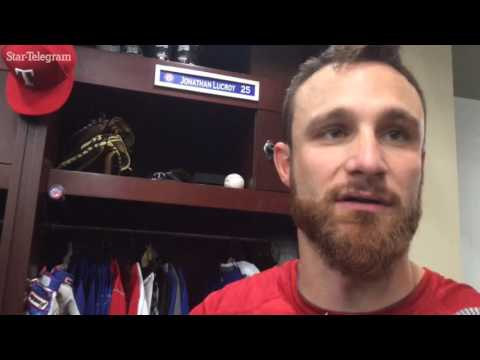 Jonathan Lucroy and Martin Perez assess the lefties' five-hitter