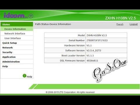 Zte Zxhn H108n Setup
