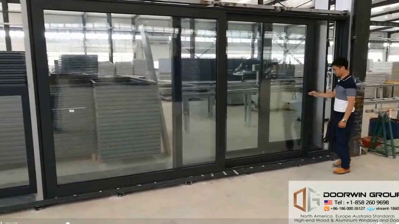 Storefront Windows And Doors vancouver sound proof sliding aluminum storefront glass doors with weather  seal strip