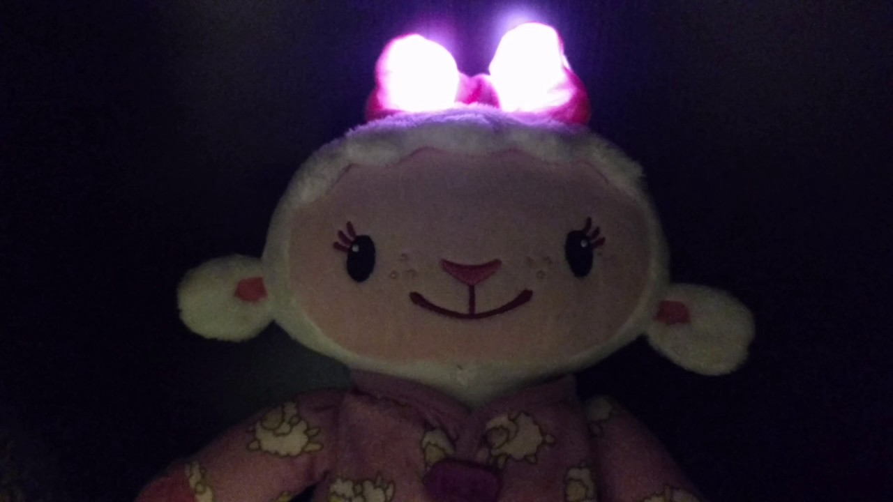Disney Sleepy Time Lambie Plush Song Electronic Light Up
