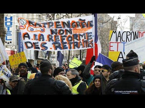 فرنسا تستعد ليوم جديد من الإضراب ضد إصلاح نظام التقاعد  - 18:59-2020 / 1 / 8