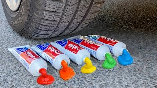 Experiment Car vs Toothpaste and Balloons | Crushing Crunchy & Soft Things by Car