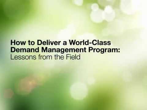 How to Deliver a World-Class Demand Management Program-Lessons from the Field