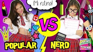 🎀 ¡POPULAR VS NERD! 📚 RUTINA DE LA MAÑANA de POPULAR vs NO POPULAR de VUELTA A CLASES o ESCUELA ✏️
