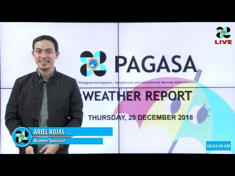 Public Weather Forecast Issued at 4:00 AM December 20, 2018