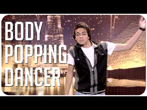 Talented body popping dancer on Arab's Got Talent