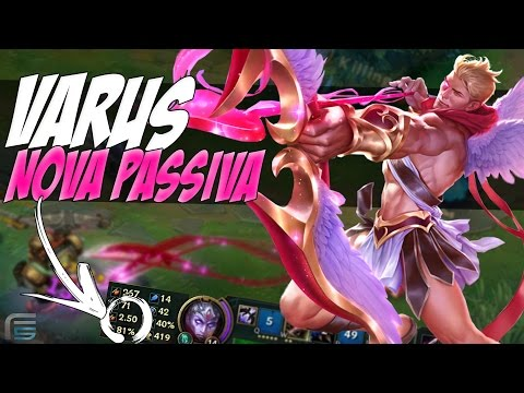 NOVA PASSIVA ROUBADA DO VARUS - 2.50 ATTACK SPEED COM 3 ITENS - League of Legends - [ PT-BR ]