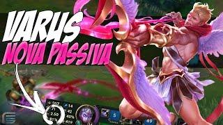 NOVA PASSIVA ROUBADA DO VARUS - 2.50 ATTACK SPEED COM 3 ITENS - League of Legends - [ PT-BR ]