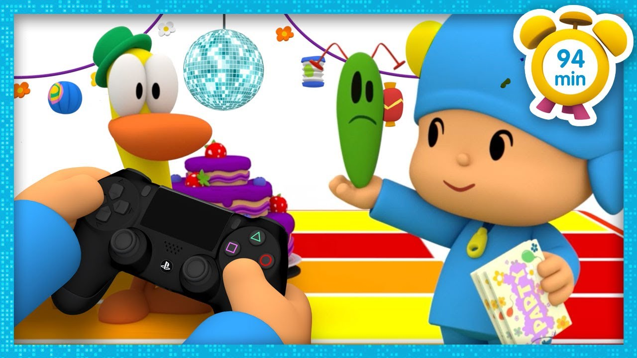 🎮 POCOYO in ENGLISH - The Videogame Party [94 min] | Full Episodes | VIDEOS and CARTOONS for KIDS